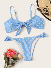 Load image into Gallery viewer, BIKINI Polka Dot Random Print High Cut Bikini Set - EK CHIC
