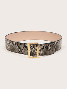 BELTS Snakeskin Pattern Belt - EK CHIC