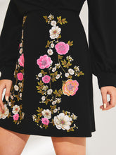 Load image into Gallery viewer, DRESS Plus Wrap Front Lantern Sleeve Floral Print Dress - EK CHIC