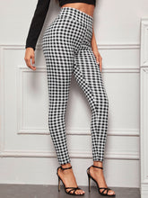 Load image into Gallery viewer, PANTS Wide Waistband Gingham Skinny Pants - EK CHIC