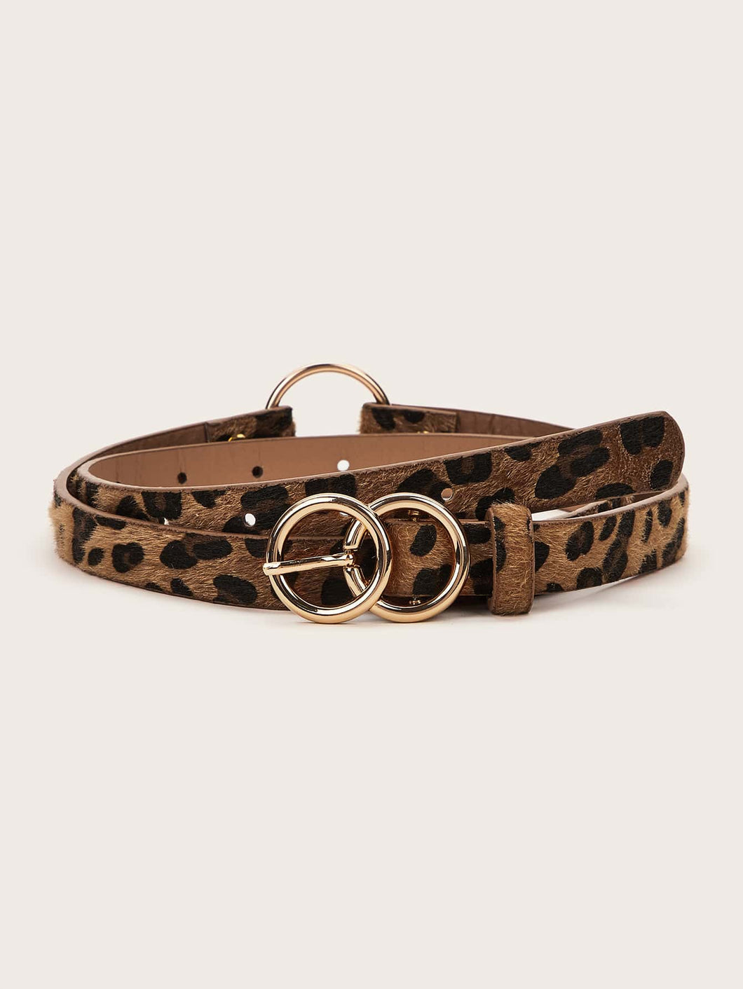 BELTS Leopard Pattern Metal Buckle Belt - EK CHIC