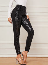 Load image into Gallery viewer, PANTS Split Hem Sequin Pants - EK CHIC