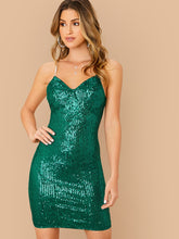 Load image into Gallery viewer, DRESS Rhinestone Strap Sequin Bustier Dress - EK CHIC