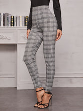 Load image into Gallery viewer, PANTS High Waist Plaid Skinny Leggings - EK CHIC