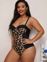 Load image into Gallery viewer, BIKINI Plus Leopard Underwire One Piece Swimwear - EK CHIC