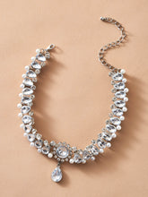 Load image into Gallery viewer, NECKLACE 1pc Rhinestone Engraved Faux Pearl Decor Necklace - EK CHIC