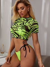 Load image into Gallery viewer, BIKINI 3pack Zebra Print Triangle Co-ord Bikini Set - EK CHIC