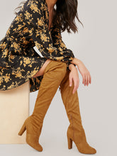 Load image into Gallery viewer, BOOTS Almond Toe Over The Knee Slim Heel Boots - EK CHIC