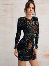 Load image into Gallery viewer, Sequin Fitted Dress - EK CHIC