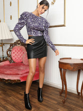 Load image into Gallery viewer, Leg-of-mutton Sleeve Zip Back Sequin Top - EK CHIC