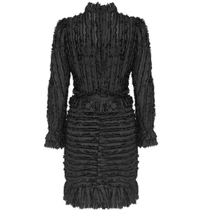 DRESS Diamonds Pattern Ruffled Fashion Mini Dress - EK CHIC
