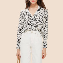 Load image into Gallery viewer, TOPS Office Button Down Polka Dot Blouse - EK CHIC