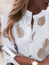 Load image into Gallery viewer, TOPS Pineapple Print Button Through Casual Shirt - EK CHIC