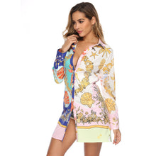 Load image into Gallery viewer, DRESS Digital Print Lose Mini Dress - EK CHIC