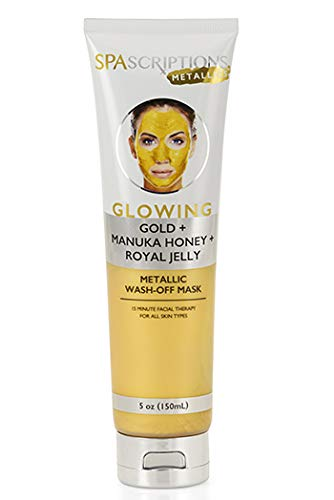 GOLD FACE MASK GLOWING GOLD + MANUKA HONEY + ROYAL JELLY METALLIC Mask - EK CHIC
