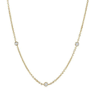 NECKLACE Bezel-Set Round HSI2 Diamond 18