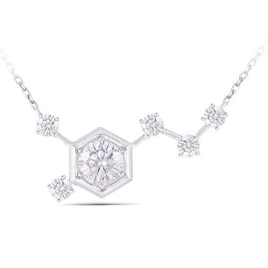 NECKLACE Solid 14K White Gold 1.5ctw Pendant Necklace with Accents - EK CHIC