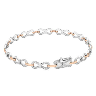 BRACELET 0.55 CT-14K Diamond Ladies Infinity Tennis Link Bracelet - EK CHIC