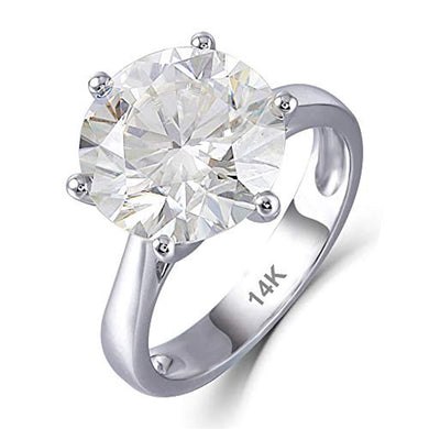 ENGAGEMENT RING 14K White Gold - 6ct H-I Engagement Ring - EK CHIC