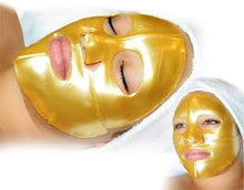 Load image into Gallery viewer, 24K GOLD FACE MASKS 6PCS 24K Gold Gel Collagen Crystal Facial Masks For Anti Aging - EK CHIC