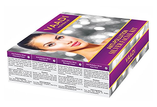 SILVER FACIAL KIT Silver Facial Kit With Pure Silver Dust For All Skin Types 70 Grams - EK CHIC