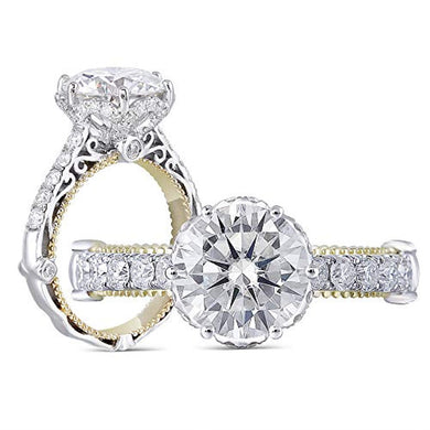 ENGAGEMENT RING Solid 14k Gold 1.5ct G-H-I Color Moissanite Engagement Ring - EK CHIC