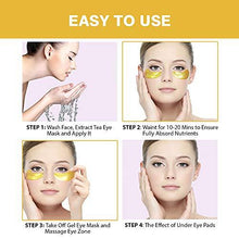 Load image into Gallery viewer, 24K GOLD EYE MASK SET 12 Pairs +V Shape Lifting Up Face Mask - Puffy 24k Gold - EK CHIC