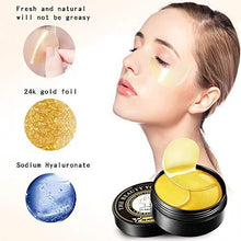 Load image into Gallery viewer, 24K GOLD EYE MASK 24K Gold Under Eye mask Bags Treatment Mask - EK CHIC