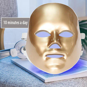 GOLD LED MASK GOLD - 7 Colors Led Facial Mask - Photon Therapy Skin Care - EK CHIC