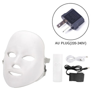 LED FACE MASK 7 Colors Led Mask - Photon Electric LED Facial Mask LED Skin Rejuvenation - EK CHIC