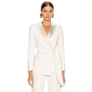 TWO PIECE SET White Long Sleeve Celebrity 2 Two Pieces Set - EK CHIC