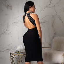 Load image into Gallery viewer, DRESS Backless Beading Bodycon Celebrity Party Dress - EK CHIC