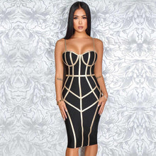 Load image into Gallery viewer, DRESS Spaghetti Strap Hot Celebrity Evening Dress - EK CHIC