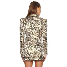 Load image into Gallery viewer, TWO PIECE SUIT Leopard Two Pieces Sets-Deep V Neck - EK CHIC