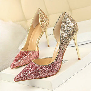 SHOES Pointed Toe Bling Women Pumps - EK CHIC