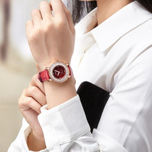 Load image into Gallery viewer, WATCH LUXURY Genuine Leather Ladies Sapphire Crystal Watch - EK CHIC