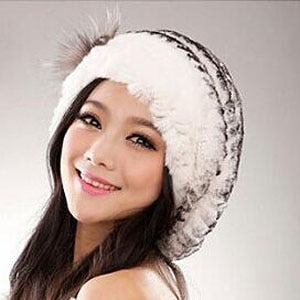 HAT Rex Rabbit Fur Hat - 100% Genuine - EK CHIC