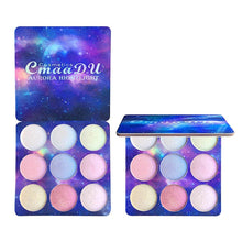 Load image into Gallery viewer, FACE HIGHLIGHTER 9 Colors Natural Glitter Palette Shimmer Highlighter - EK CHIC