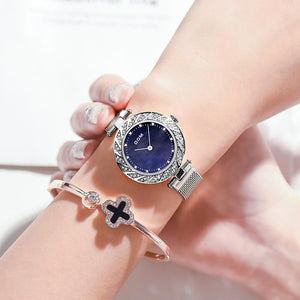 WATCH SILVER Luxury Women Quartz Waterproof Watch - EK CHIC