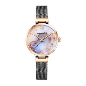 WATCH Genuine Leather Quartz Casual 3ATM Waterproof Wristwatch - EK CHIC