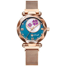 Load image into Gallery viewer, WATCH Women Watch Luxury Magnetic Buckle Mesh Band - EK CHIC