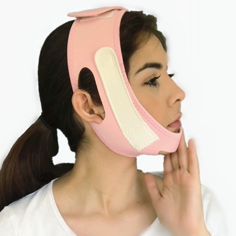 FACE SLIMING Face Slim V-Line Lift Up Mask - Cheek Chin Neck Slimming Bandage - EK CHIC