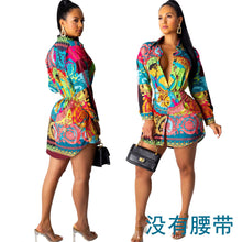 Load image into Gallery viewer, DRESS Women's Button Down Abstract Print Dress Shirt - EK CHIC