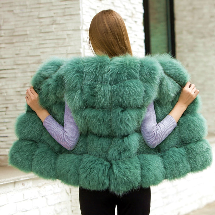 FUR Top Quality Luxury Arctic Fox Fur Jacket/Vest - EK CHIC