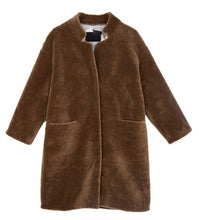 Load image into Gallery viewer, COAT Mongolian Fur Coat with Stand Collar - EK CHIC