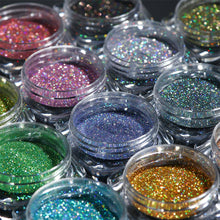 Load image into Gallery viewer, NAIL GLITTER Holographic Laser Glitter Powder Nail Art Pigment - EK CHIC