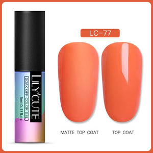 NAIL GEL Matte Gel Polish Soak Off UV LED Gel -Long Lasting - EK CHIC