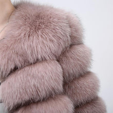 Load image into Gallery viewer, FUR COAT 100% Real Fox Fur Jacket - EK CHIC
