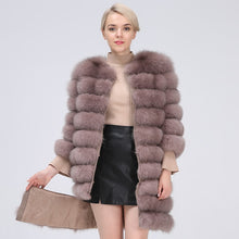 Load image into Gallery viewer, FUR Natural Long Style Fox Fur Coat (Color Variations) - EK CHIC
