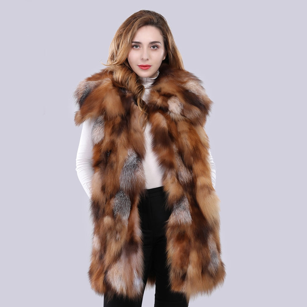 FUR Genuine Fox Fur Vest - EK CHIC